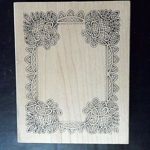 Peddlers Pack Rubber Stamp Frame Rectangle Large P